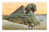 Pyramid and Sphinx, Egypt Posters