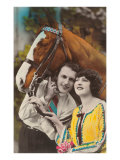 Couple with Horse Posters