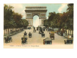 Arc de Triomphe, Champs Elysees, Paris, France Posters