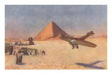 Monoplane Landing by Pyramid and Sphinx Posters