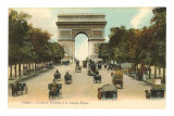 Arc de Triomphe, Champs Elysees, Paris, France Photo