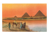 Pyramids from across the Nile, Egypt Prints