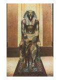 Pharaoh Statue in Cairo Museum, Egypt Poster