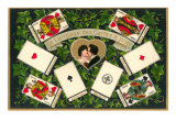French Language of Playing Cards Posters