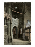 Chapel of Henry VII, Westminster Abbey, London, England Print