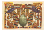 Inlaid Horus Wings, Scarab, Egypt Print