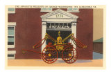 Fire Apparatus presented by George Washington Print