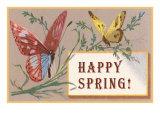 Happy Spring, Butterflies Posters