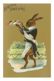 Easter Greetings, Rabbit Waiter Posters