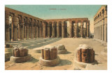 Court at Luxor, Egypt Print