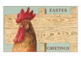 Easter Greetings, Rooster Posters