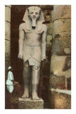 Pharaoh Statue, Luxor, Egypt Prints
