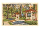 Oriental Gardens, Jacksonville, Florida Poster