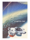 Russian Space Dogs Posters