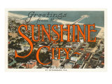 Greetings from Sunshine City, St. Petersburg, Florida Posters