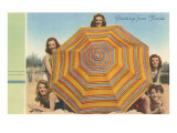 Bathing Beauties and Umbrella Poster