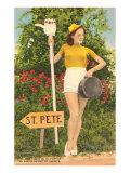 フロリダ州セントピートへの ヒッチハイク ポスター