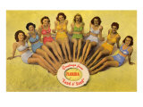 Bathing Beauties on Beach, Florida Posters