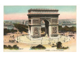 Arc de Triomphe, Paris, France Poster