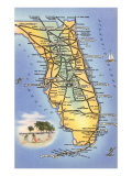 Map of Florida Print