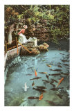 Victorian Lady by Fish Pond Posters
