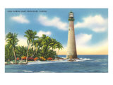 Cape Florida Lighthouse, Miami, Florida Print