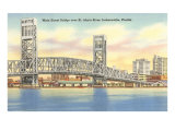 Bridge, Jacksonville, Florida Poster
