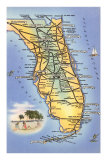 Map of Florida Posters