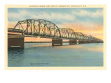 Hathaway Bridge, Panama City, Florida Print