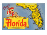 Map of Florida Poster
