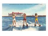 Skieuses nautiques, St. Petersburg, Floride Posters