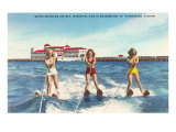 Water Skiers, St. Petersburg, Florida Posters