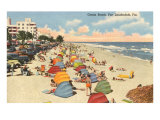 Strand am Ozean, Ft. Lauderdale, Florida Poster