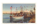 Boat, Sponge Exchange, Tarpon Springs, Florida Posters