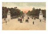 Champs Elysees, Paris, France Poster