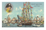 Gasparilla Entering Harbor, Tampa, Florida Posters