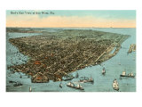 Aerial View of Key West, Florida Posters