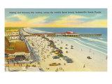 Plage et jetée, Jacksonville, Floride Posters