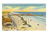 Beach, Pier, Jacksonville, Florida Posters