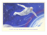 Russian Cosmonaut on Space Walk Posters