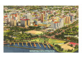 Aerial View of Miami, Florida Print