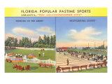 Green Bowling, Shuffleboard, Sarasota, Florida Posters