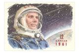 Yuri Gagarin in Cosmonaut Outfit Posters