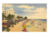 Beach, Ft. Lauderdale, Florida Print