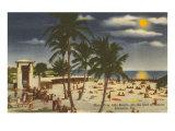 Moon over Sarasota, Florida Poster