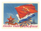 Russian Flags Print