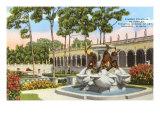 Turtle Fountain, Ringling Museum, Sarasota, Florida Poster