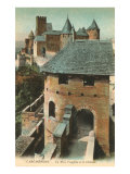 Visigoth Tower, Carcassonne, France Posters