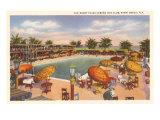 Piscine d'un hôtel, Miami Beach, Floride Posters