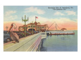 Pelican on Pier, St. Petersburg, Florida Posters